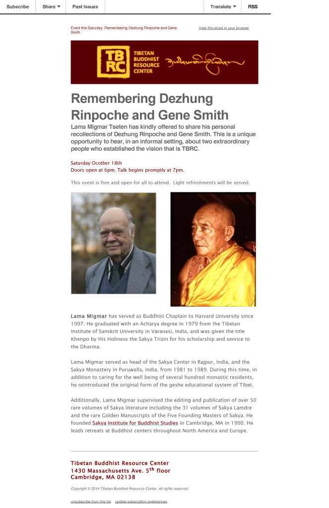 Event this Saturday_ Remembering Dezhung Rinpoche and Gene Smith