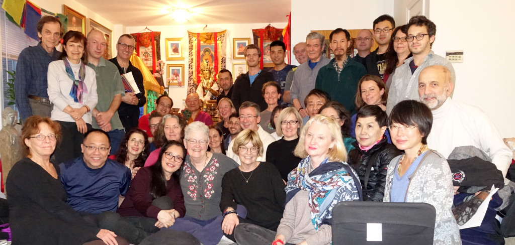 Ghantapada Shri Chakrasamvara Body Mandala Retreat at Sakya Institute for Buddhist Studies in Cambridge, MA on December 12th and 13th, 2015.