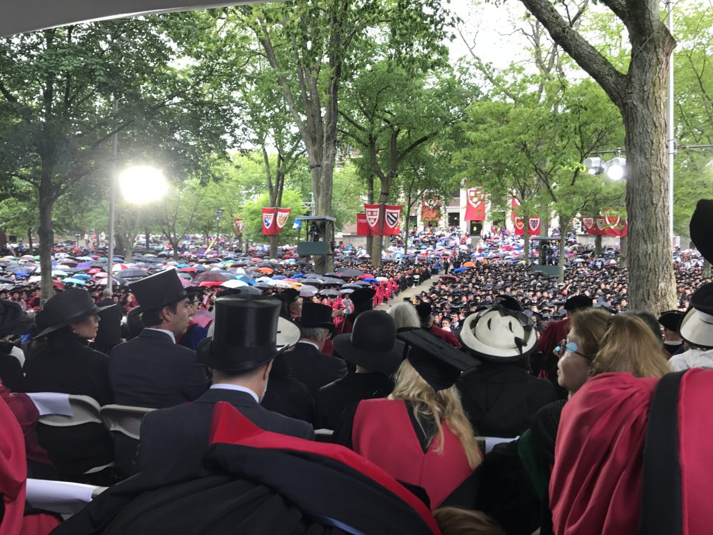 Lama Migmar at 2017 Harvard Commencement
