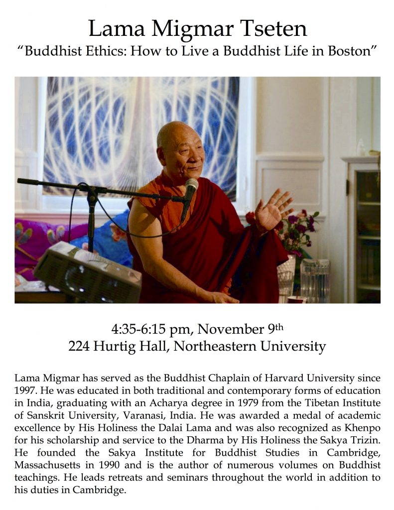 Lama Migmar teaching at Northeastern University